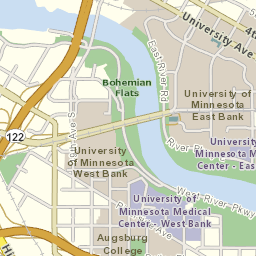 University Of Minnesota Map East Bank.Metro Transit Online Schedules Route 122